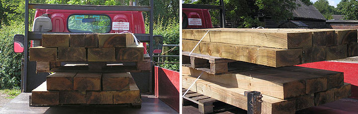 Buy railway sleepers, new and reclaimed, delivered to Cambridge, Haverhill, Newmarket and Saffron Walden